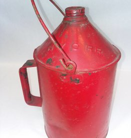 NYCRR, 1 Gal tin Fuel Can, early 1900's, Bail Handle, E.1900's