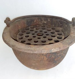 "Cast Iron Foundry Pot, 10x6"", 1870's"