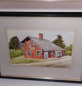 Watercolor Painting of Cuyler NY Train Station (Kate O'Shea,Cortland)