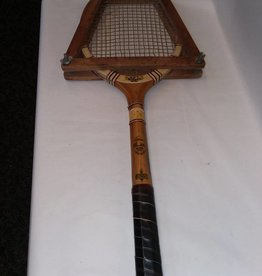 A. Marble Tennis Racket, In Press, 1930's-40's