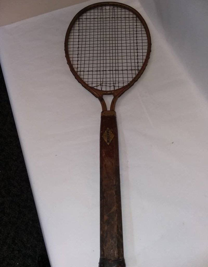 "1920's Dayton All Steel Tennis Racket, 27"" Long"