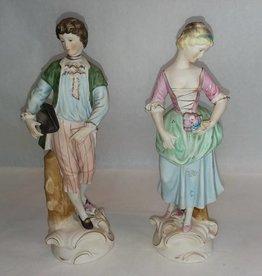 Colonial Couple, 2 Pieces, c.1950