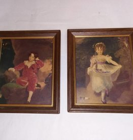 Pair of Master Lambton & Miss Murray Lithographs, m.1900's, 5x6""