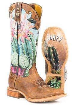 Tin Haul 14-021-0007-1337BR Tin Haul Ladies Looking Sharp Boot