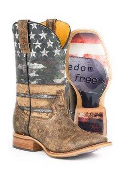 Tin Haul 14-020-0007-0220BR Tin Haul Freedom Isn't Free Mens Western Boot