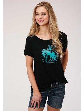 Roper 3-39-513-2021BL Roper Ladies Buckaroo T-Shirt