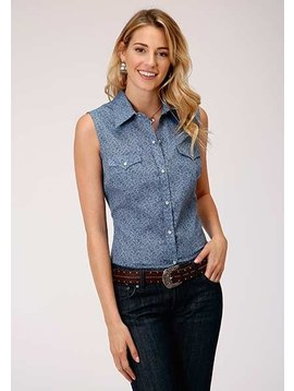 Roper 1-052-019-304BUn Roper Ladies Sleeveless Print Shirt
