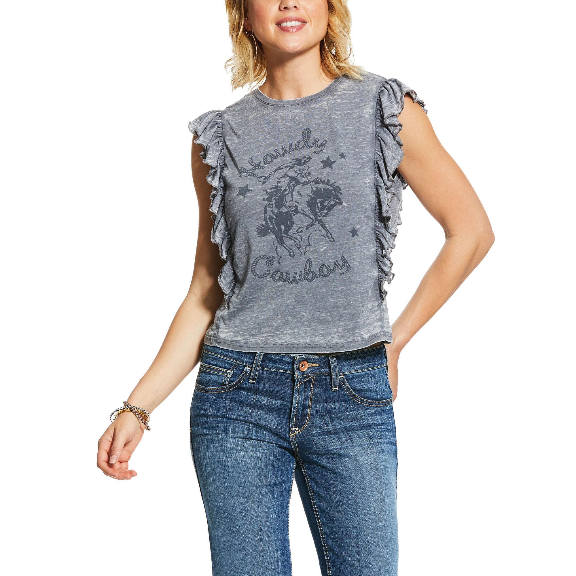 Ariat 10030881 Ladies Ariat Howdy Cowboy Sleeveless Shirt