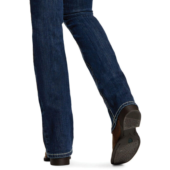 10025286 Ladies Ariat R.E.A.L. Mid Rise Stretch Entwined Boot Cut Jean
