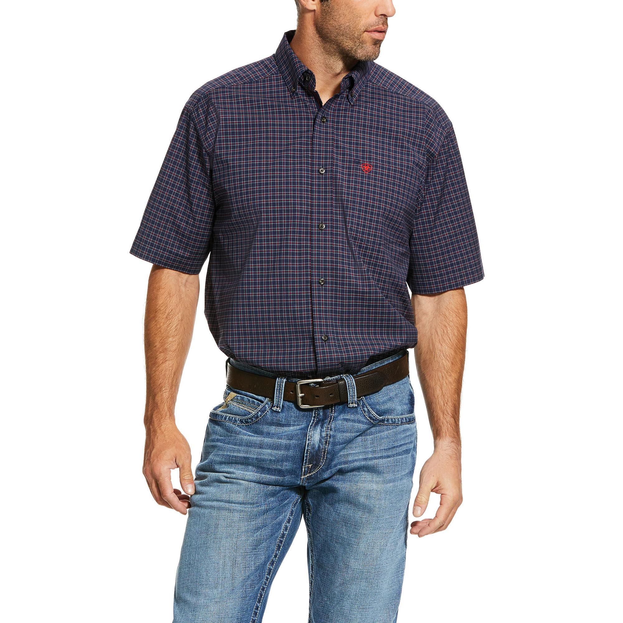 10030746 Ariat Mens Norwalk Short Sleeve Shirt