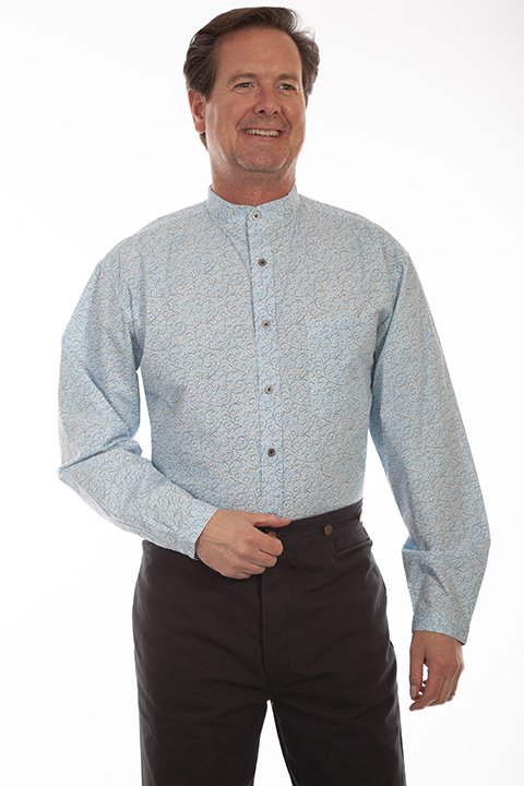 Scully RW333 Scully Mens L/S Scroll Shirt