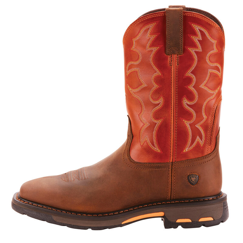 10005888 Ariat Mens WorkHog Wide Square Toe Work Boot