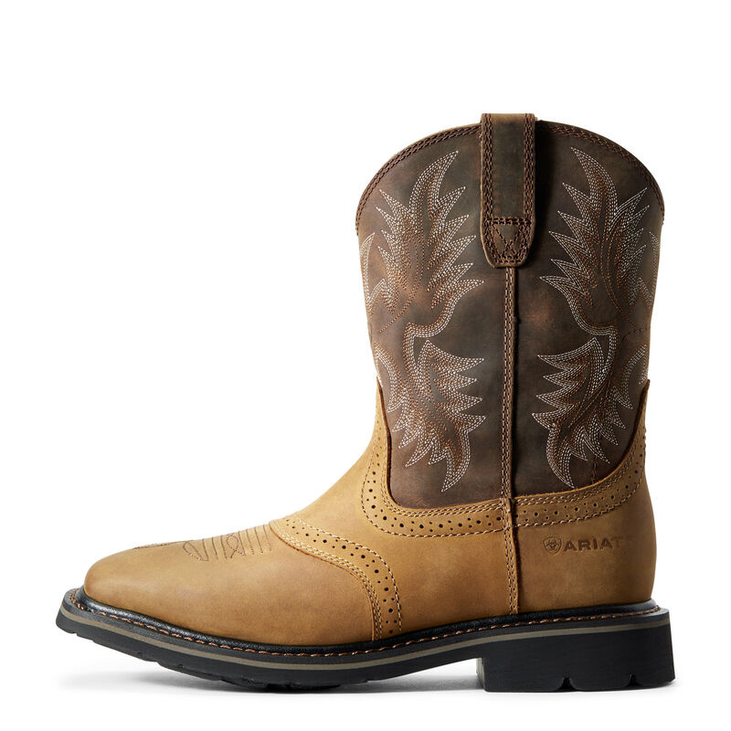 10010148 Ariat Mens Sierra Wide Square Toe Work Boot