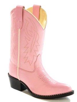 Jama Kids Pink Western Boot 8119