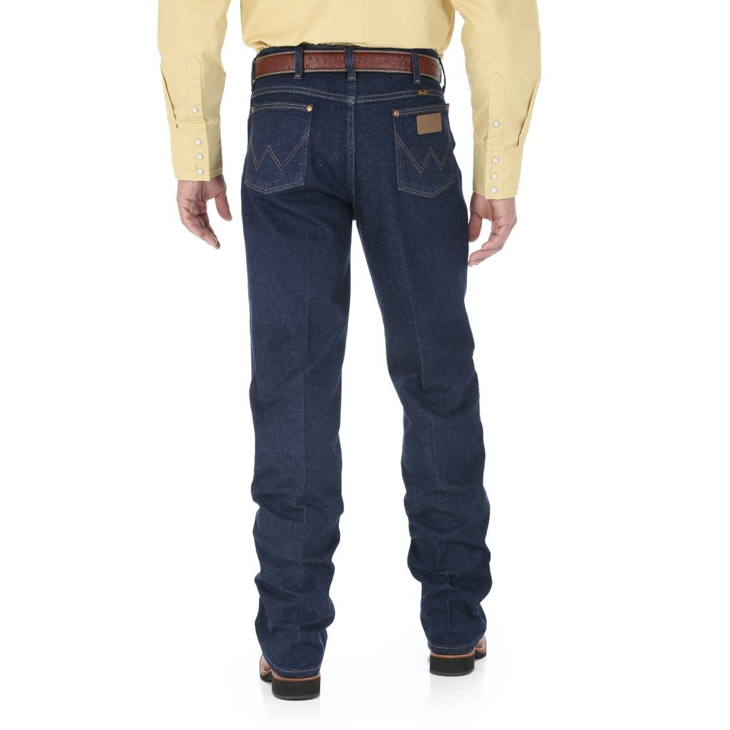 Wrangler Mens Slim Fit Blue Stretch Jeans