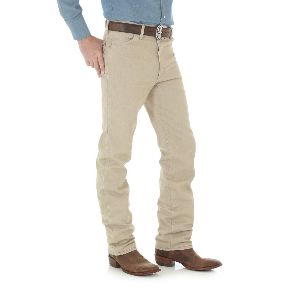 10390a60 Wrangler Mens Tan Slim Fit Jeans 936TAN - Wild Bill's Western
