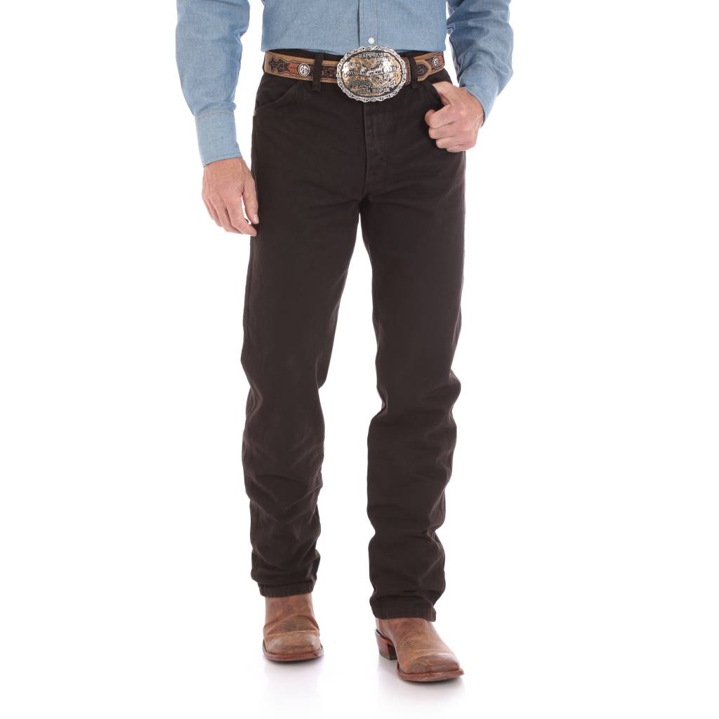 Wrangler Mens Original Fit Black Chocolate Jeans 13MWZKL
