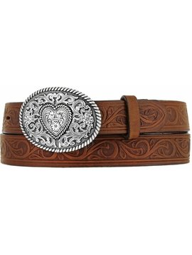 Leegin Girls Heart Trophy Belt Bark 815BD