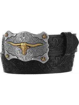 Leegin Kid's Little Texas Belt Black C60113
