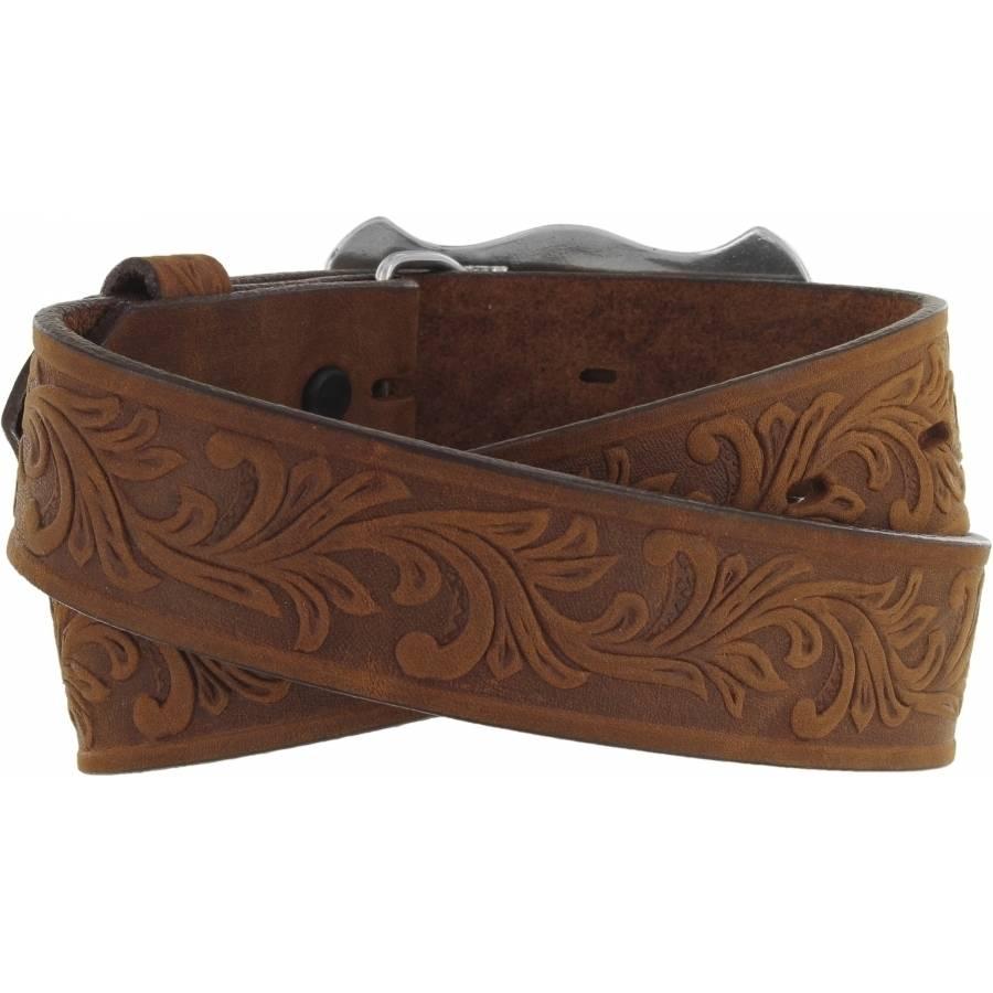 Leegin Kid's Little Texas Belt Aged Bark C60119