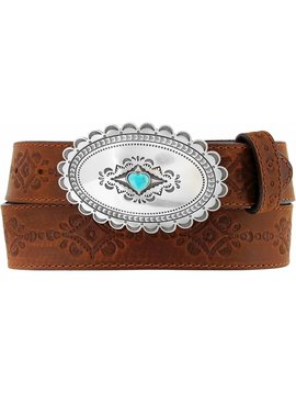 Leegin Women's Bark Navajo Heart Belt C21369