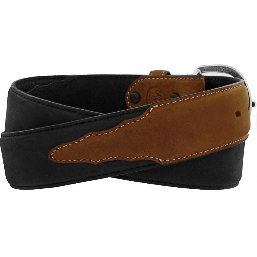 Leegin Men's Black/Brown Classic Western Belt 53700