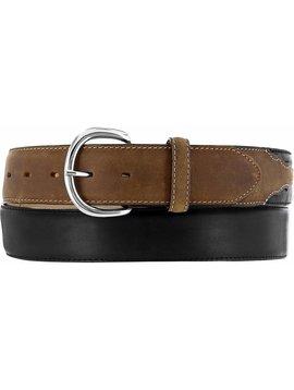 Leegin Men's Black/Brown Belt Big Size X5400