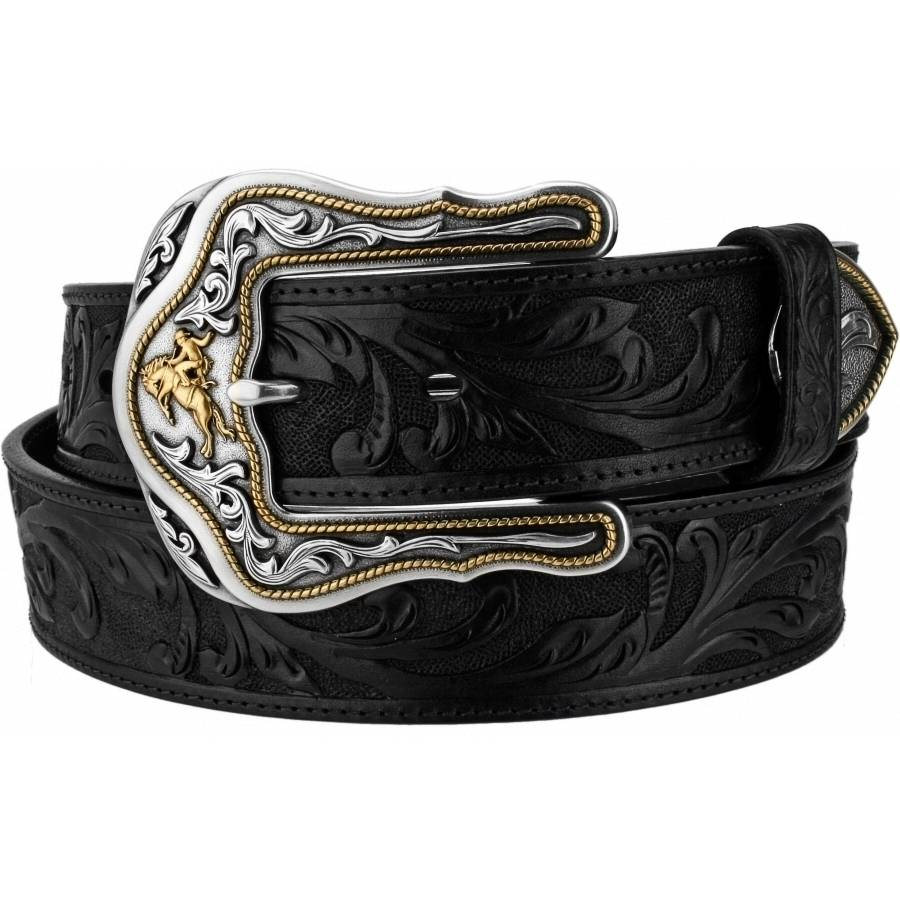 Leegin Men's Black Westerly Ride Belt C41513
