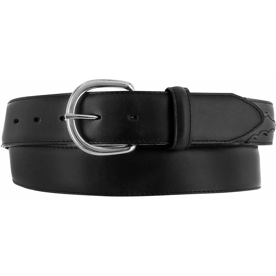 Leegin Men's Black Belt Big Size X5402