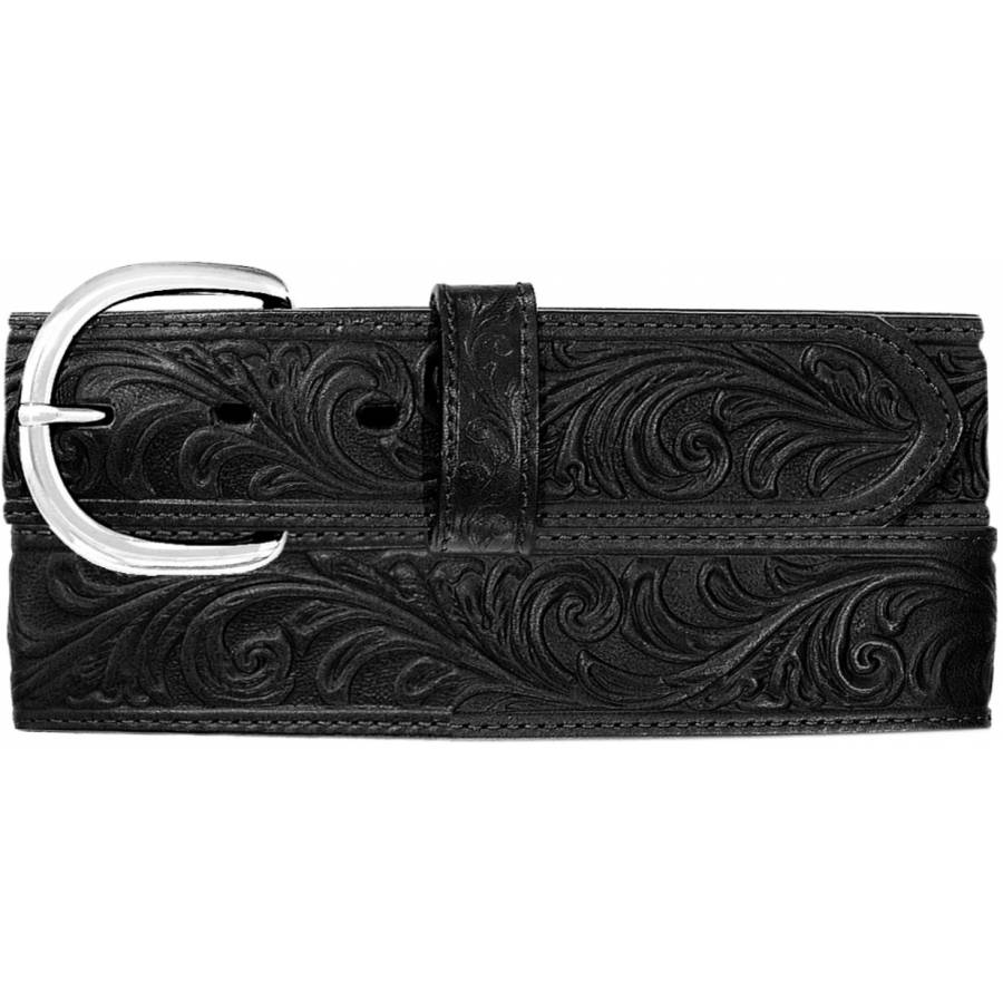 Leegin Men's Black Western Scroll Belt 53903