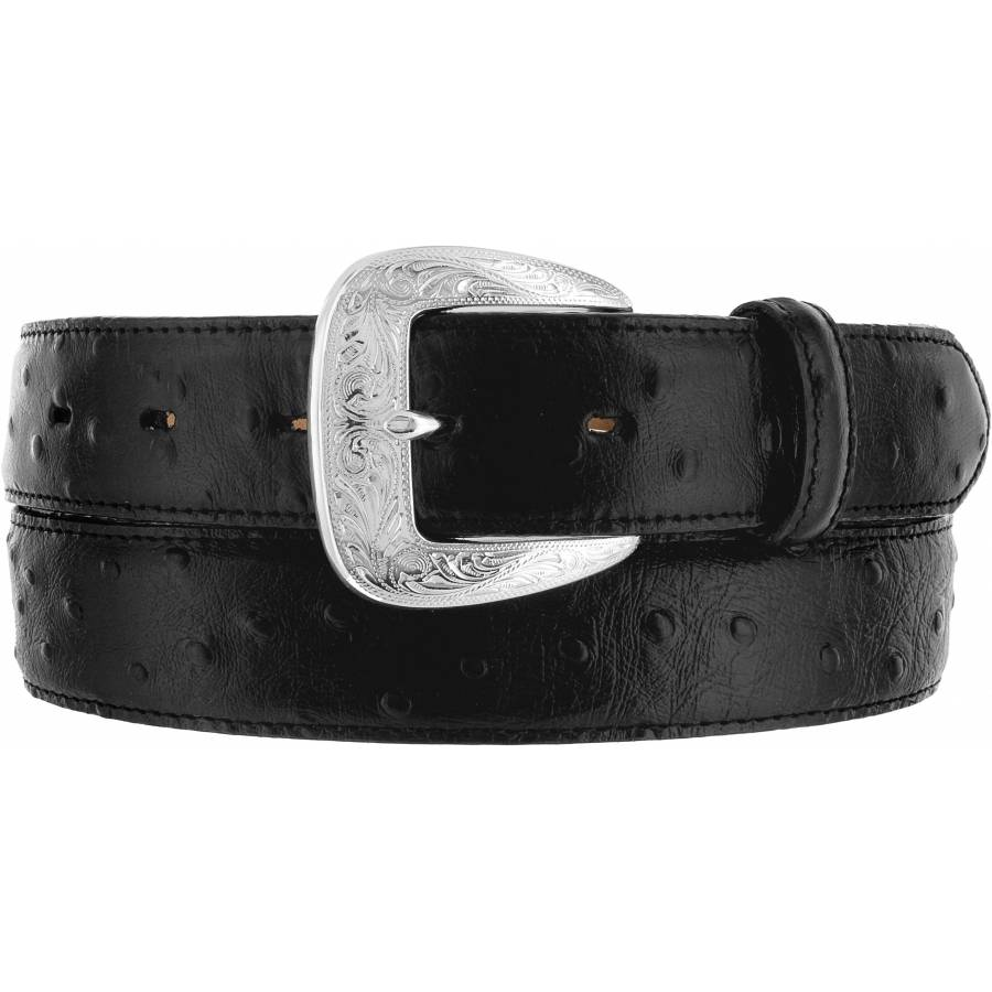 Leegin Men's Ostrich Print Belt 1373L