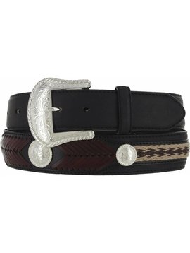 15c6f9ee Leegin Men's Black The Duke Belt 7233L