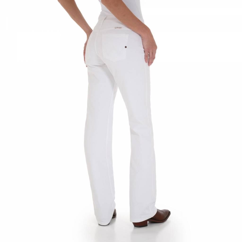 Wrangler WRQ20WS Ladies  Q-Baby White Jean