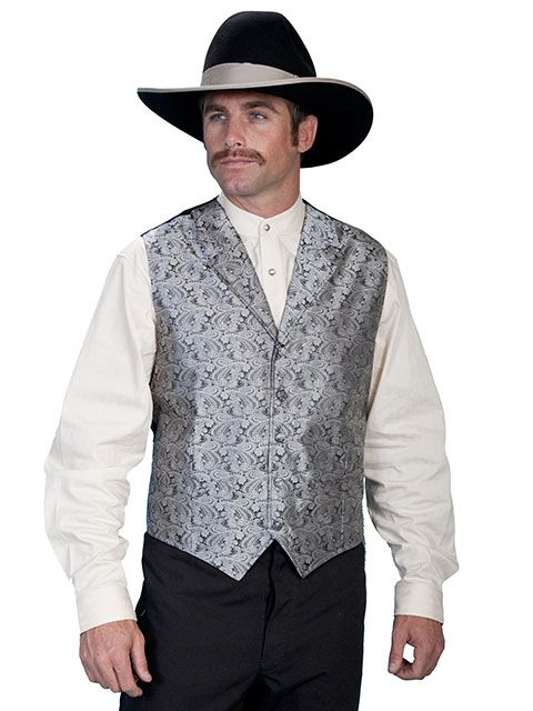 Scully Men's Paisley Old West Vest RW093