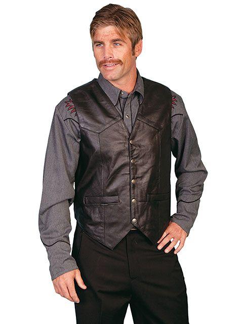 Scully Men's Leather Vest 507
