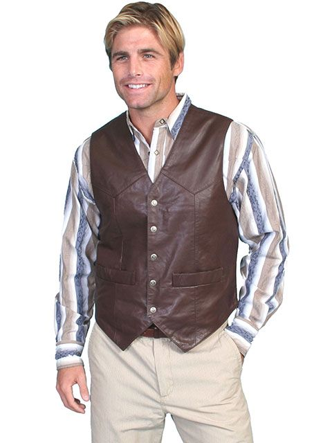 Scully Men's Leather Vest 507