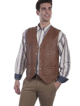 Scully Men's Leather Vest 507-15
