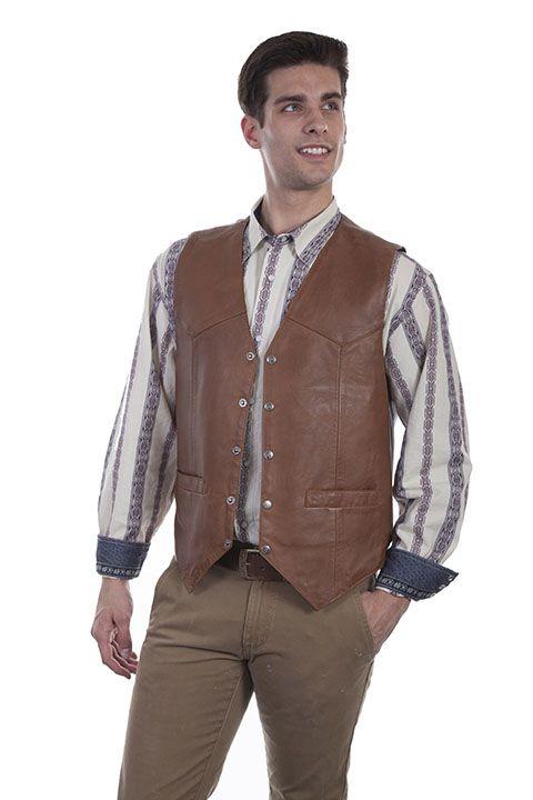 Scully Men's  Leather Vest 507-15