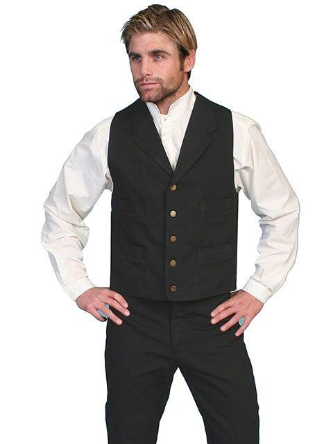 Scully Men's Canvas Vest RW041