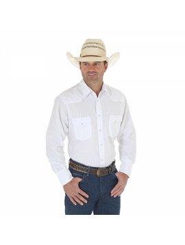 Wrangler Men's  White Tone on Tone L/S Shirt 75221WH