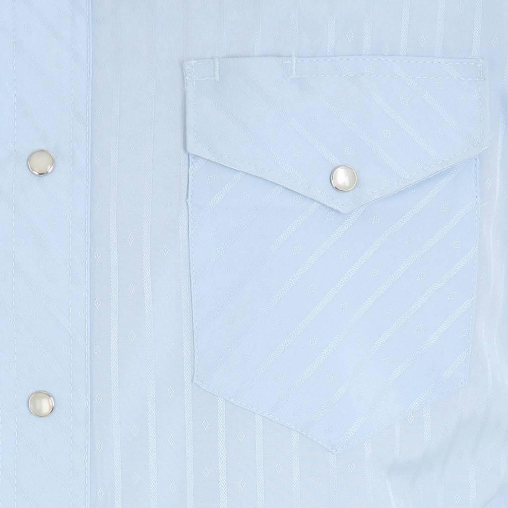 Wrangler Men's  Blue Tone on Tone L/S  Shirt 75222BL