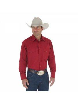 Wrangler Men's  Wine Tone on Tone L/S Shirt 75740WN