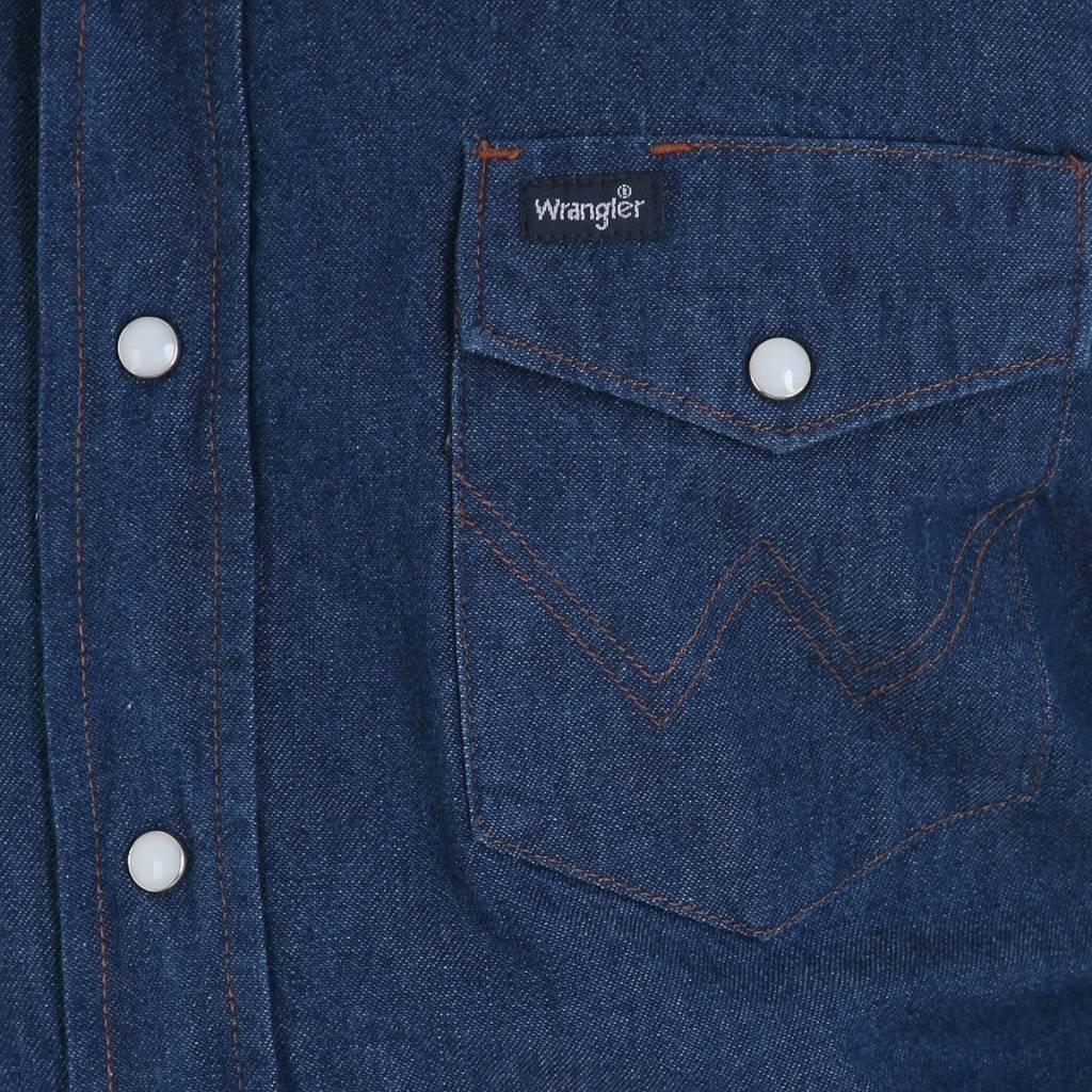 Wrangler Men's  Denim Long Sleeve Work Shirt MS70119