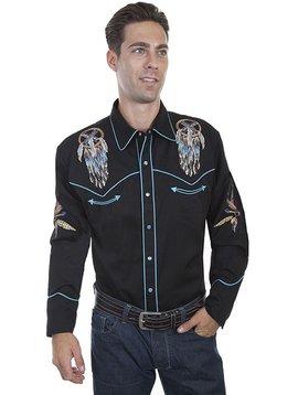 Scully Men's Dreamcatcher Retro Long Sleeve Shirt P-868
