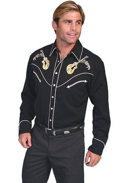 Scully Rock n Roll Retro Long Sleeve Shirt P-665