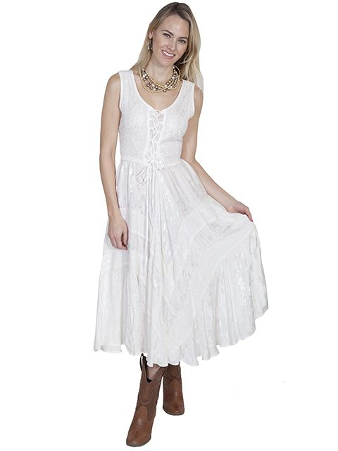 Scully Ladies Lace Up Dress HC118