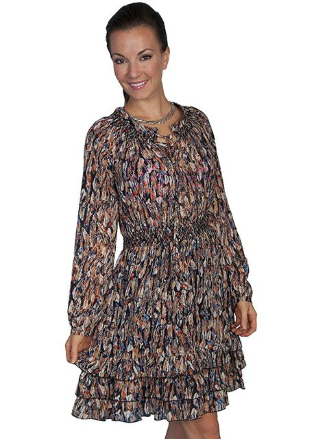 Scully Ladies Feather Dress HC76
