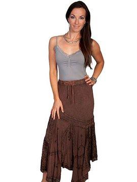 Scully Ladies Rayon Multi Fabric Skirt HC64