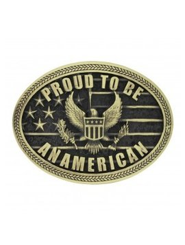 Montana Silversmith Proud to be an American Buckle A670C