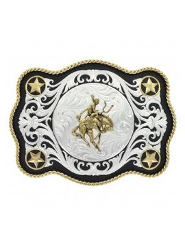 Montana Silversmith Bucking Horse Star Buckle 61360-422